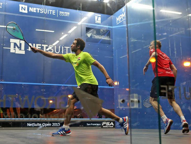 The Final Of The Mens 100k Netsuite Open In San Francisco Featured The Latest Edition Of The Long Running Rivalry Between Nick Matthew The Top Seeded