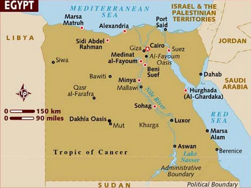 ElGouna - Map of egypt el gouna