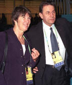 Susie Simcock with Jacques Rogge in Manchester, 2002 ...